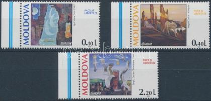 1995 Europa CEPT, béke és szabadság ívszéli sor Mi 164-166