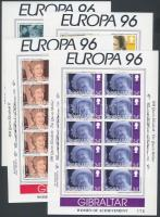 1996 Europa CEPT, híres nők kisív sor Mi 755-758