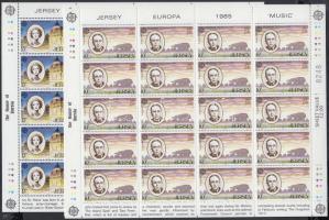 1985 Europa CEPT A zene éve kisívsor Mi 347-349