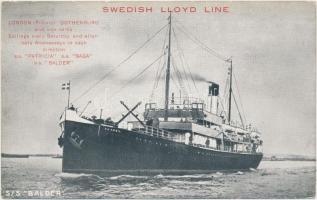 SS Balder, Swedish Lloyd Line, SS Balder hajó