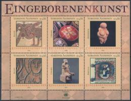 Indigenous art (II) block, Bennszülött művészet (II) blokk
