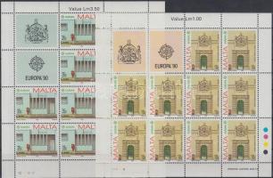 1990 Europa CEPT Postai intézmények kisívsor Mi 831-832