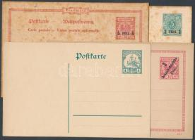 Deutsch Ostafrika 1893-1910 5 klf használatlan díjjegyes levelezőalap (vegyes minőség)