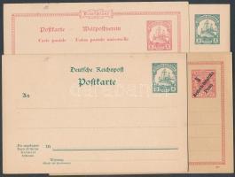 Deutsch Ostafrika 1896-1919 11 db használatlan díjjegyes levelezőlap közte változatok és 1 másodpéldány