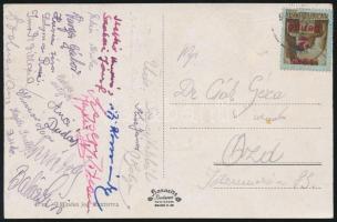 1945 (2.díjszabás) Távolsági képeslap Kisegítő 2P/2P bérmentesítéssel