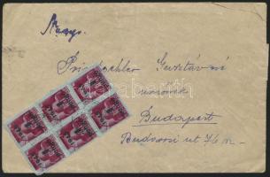 1945 (5.díjszabás) Távolsági levél Kisegítő 30x4P/30f bérmentesítéssel