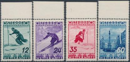 1936 Síverseny ívszéli sor Mi 623-626