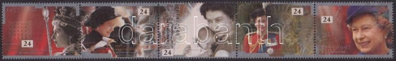 1992 II Erzsébet trónralépésének évfordulója Mi 1387-1391