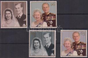 1997 A királyi pár aranylakodalma sor Mi 1719-1722