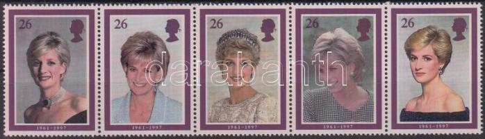 1998 Lady Diana ötöscsík Mi 1729-1733