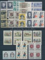 1965-1966 16 db klf érték összefüggésekben, 2 db stecklapon