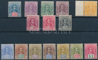 Sarawak 1928 Forgalmi sor Mi 70-84