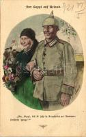 Der Seppl auf Urlaub; Fliegende Blätter Serie I. Nr. 2. / German soldier s: Roeseler, Német katona kimenőn; Fliegende Blätter Serie I. Nr. 2. s: Roeseler