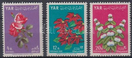 1964 Virágok légi értékek Mi 395-397