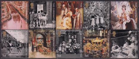 2003 Erzsébet királynővé koronázásának 50. évfordulója tizestömb Mi 2121-2130
