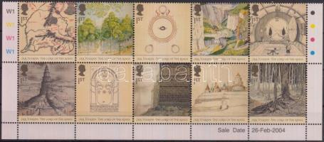 2004 A gyűrűk ura ívsarki tizestömb Mi 2185-2194
