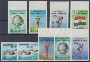 1964 Nyári Olimpia, Tokió vágott sor Mi 359-367 B