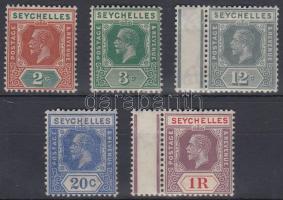 1921 Forgalmi értékek Mi 90-91, 99, 104, 110