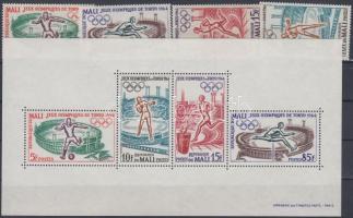 1964 Tokiói olimpia sor Mi 86-89 + blokk Mi 2