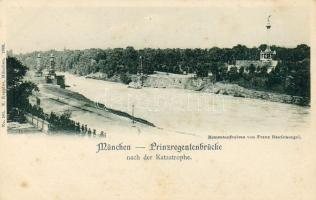München, Prinzregentenbrücke nach der Katastrophe / Bridge after the disaster