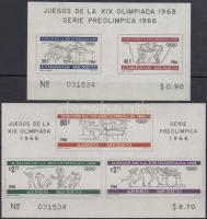 1965 Nyári Olimpia, Mexikó blokk sor Mi 5-6