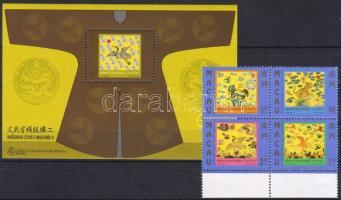 1998 Mandarinok rangjelzései Mi 982-985+blokk 58