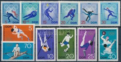 1968 Olimpia motívum 2 db teljes sor