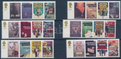 2008 Ian Fleming 100. születésnapja sor Mi 2599-2604