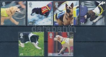 2008 Mentő kutyák sor Mi 2606-2611