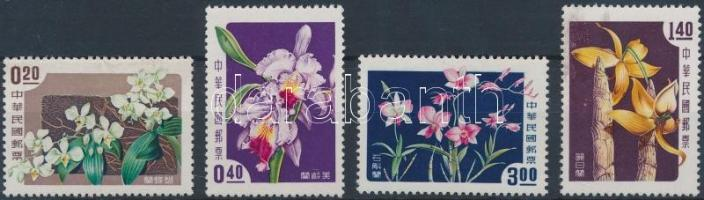 1958 Orchideák sor Mi 288-291