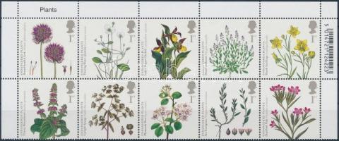 2009 Veszélyeztetett növények ívsarki tizestömb Mi 2760-2769