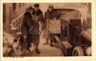 Zurück zur Front, Zensur Altona No. 590. / romantic WWI postcard, Romantikus I. világháborús német katonai lap, Zensur Altona No. 590.