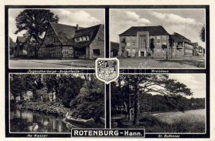 Rotenburg (Wümme) Jugendherberge-Betgstrasse, Kreishaus, Am Wasser, Gr. Bullensee