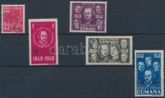 1952 Felülnyomott Forradalom sor Mi 1301-1305