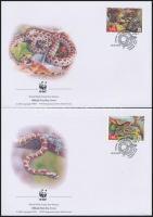 2002 WWF Leopárdsikló sor Mi 502-505 A 4 FDC