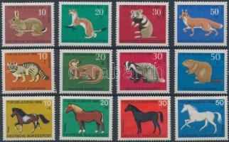 1967-1969 Állatok 3 db klf sor Mi 529-532, 549-552, 578-581