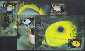 1997 WWF Pillangóhalak sor Mi 583-586 4 CM