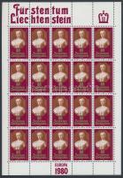 1980 Europa CEPT Jelentős személyek kisívsor Mi 741-742