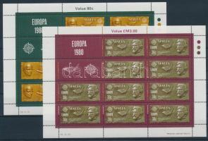 1980 Europa CEPT Jelentős személyek kisívsor Mi 615-616