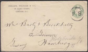 ~1905 Vámkezelt ajánlott csomagcímzés Budapestre