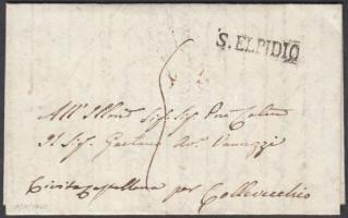 1840 Portós levél S. ELPEDIO