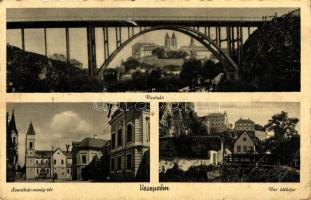 Veszprém, viadukt, Szentháromság tér, vár (lyuk / pinhole)