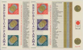 1964 Olimpiai érmesek ívszéli sor Mi 767-777 + blokk Mi 28 A+B