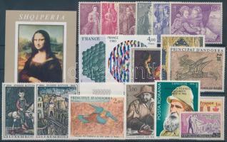 1963-1985 Paintings, art 18 stamps with sets + 1 block, 1963-1985 Festmény, művészet motívum 18 db bélyeg, közte teljes sorok és üres mezős érték + 1 db blokk