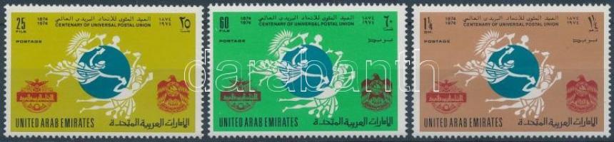 1974 100 éves az UPU sor Mi 21-23