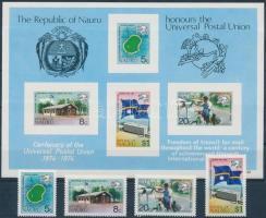 1974 100 éves az UPU sor Mi 111-114 + blokk 1
