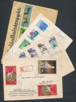 80 db 1960 utáni légi, ajánlott, expressz küldemény képes bélyegekkel