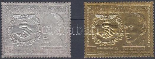 1978 Francia-afrikai együttműködés sor (arany- és ezüstfóliás bélyeg) Mi 601-602