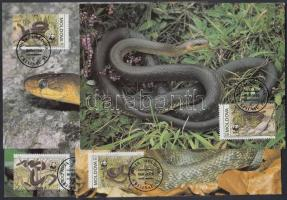 1993 WWF kígyók sor Mi 50-53 4 CM