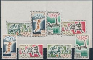 1964 Nyári olimpiai játékok sor Mi 120-123 + blokk 1